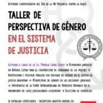 Taller de PERSPECTIVA DE GÉNERO EN EL SISTEMA DE JUSTICIA