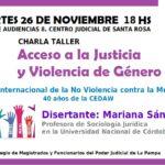INSCRIPCIÓN | Charla taller: Acceso a la Justicia y Violencia de Género