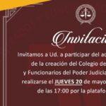 Invitación al acto por los 50 años de la creación del Colegio